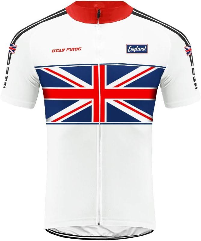Uglyfrog Bandera Nacional Patrón de Diseño Verano Quick-Dry Racing Bike Ciclismo Ropa Transpirable MTB Ropa de Bicicleta Hombres Ciclismo Jersey Bike Culotte Corto: Amazon.es: Deportes y aire libre