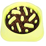 Slow Feeder Dog Bowl - Slow Eating Dog Bowl, Prevent Choking, Premium Dog Bowl (Green)