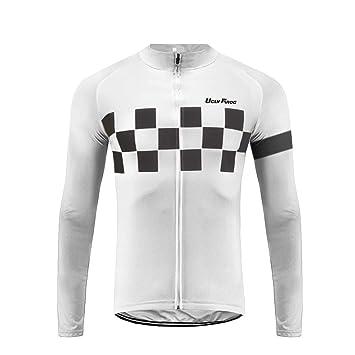 35c16cff0ebae Uglyfrog Nouveaux Cols Lycra Manches Homme Hiver Maillot Manches Longue  Cyclisme vélo de Route Jersey Respirant