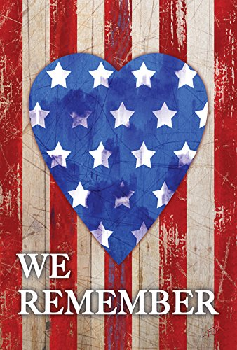 Toland Home Garden We Remember Our Heroes 12.5 x 18 Inch Decorative Patriotic America USA Double Sided Garden Flag