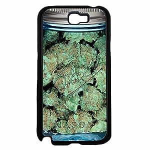 Clear Weed Mason Jar Plastic Phone Case Back Cover Samsung Galaxy Note II 2 N7100