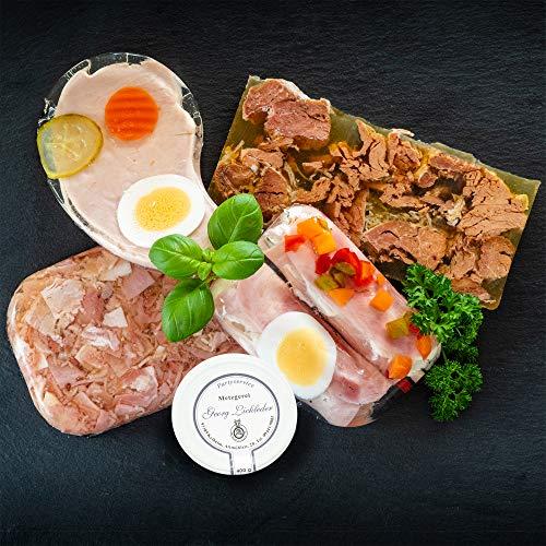 WURSTBARON® Aspik Wurst Probierpaket 1000g mit Sülzkotelett, Sülze, Zwiebelfleisch, Schinkenröllchen Fleischsalat…