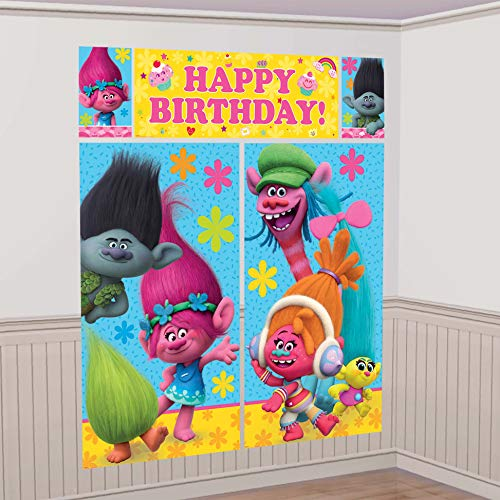 TROLLS The Movie Scene Setter Photo Backdrop Poster Birthday Party Supplies ()