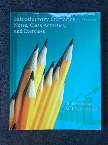 Introductory Statistics Notes, Class Activities, and Exercises 3rd Edition