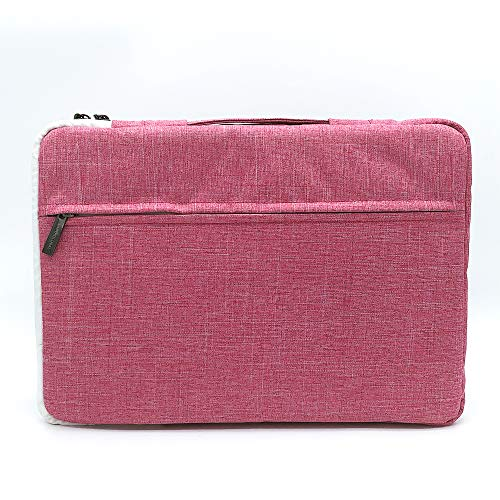 SANTHGLOBAL 360 Degree Protective Laptop Cover, Waterproof and dustproof, 13-15 inch. Pink Canvas, Dirty and Durable, Fashionable and Beautiful(13inch Pink) ()