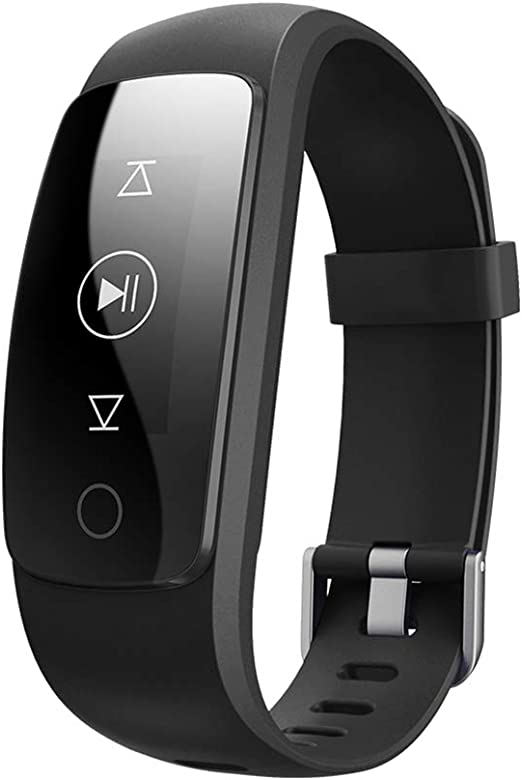 QL Fitness Tracker, Pulsera Inteligente Monitor de Ritmo CardíAco Fitness Salud Pulsera Bluetooth PodóMetro Contador ...