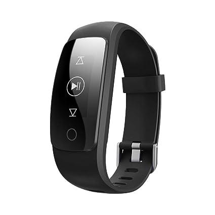 QL Fitness Tracker, Pulsera Inteligente Monitor de Ritmo CardíAco Fitness Salud Pulsera Bluetooth PodóMetro Contador