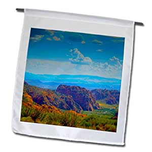 Jos Fauxtographee Outdoor - A view of Snow Canyon State Park in UT from above - 18 x 27 inch Garden Flag (fl_98133_2)