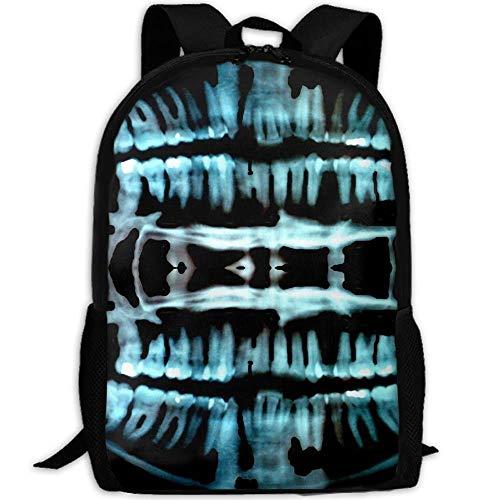 Stylish Halloween Spooky Skeleton Teeth Laptop Backpack School Backpack Bookbags College Bags Daypack]()