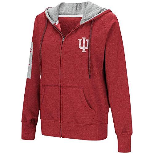 Indiana Womens Hoody Zip Sweatshirt - Colosseum Womens Indiana Hoosiers Full-Zip Hoodie - L
