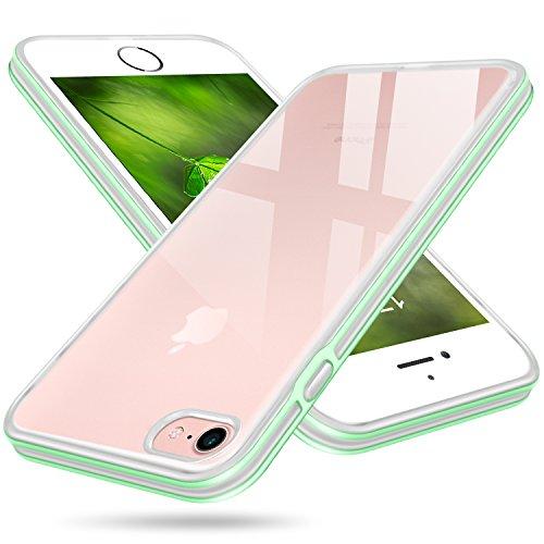 iPhone 8 Case, Salawat Cute iPhone 7 Case Slim Cover Soft TPU Anti-scratch Defender Case PC Bumper Shockproof Protective Phone Case for Apple iPhone 7/8 4.7inch (Mint Green) ()