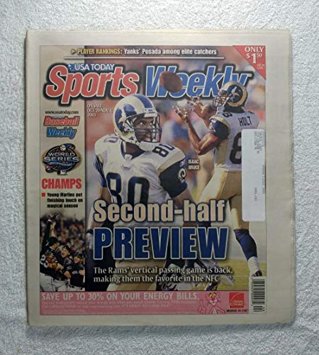 Isaac Bruce & Torry Holt - St. Louis Rams - Sports Weekly Magazine - October 29, 2003 - Florida Marlins 2003 World Series Champions!