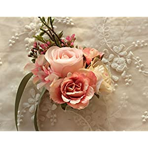 Prettybuy Wedding Wrist Corsage Wristband Roses Girls Hand Flower for Prom, Party, Wedding 27