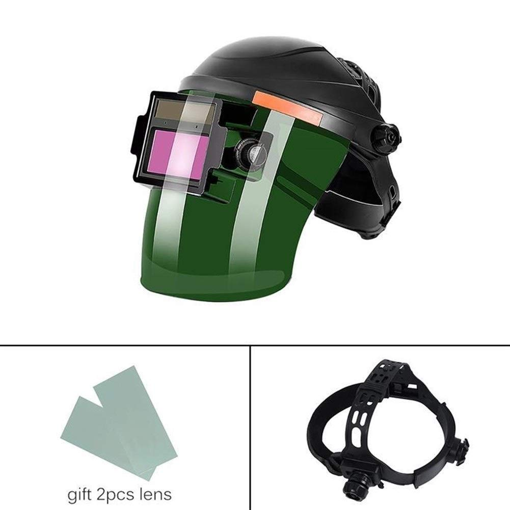 YUANYUAN521 Welding Mask Headset Automatic Variable Light Welding Cap Face Mask Glasses Welding Arc Shield Soldering Iron by YUANYUAN521
