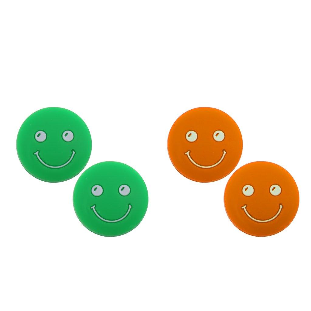 MagiDeal 4 Pezzi di Antivibrazione Racchette da Tennis Faccia Sorridente Antiurto Accessori