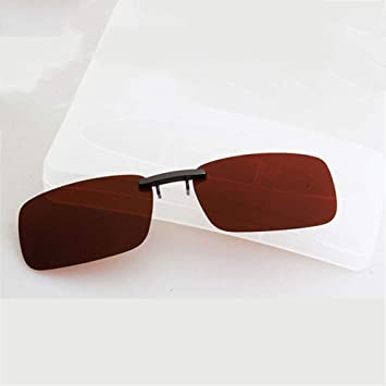 KOMNY Gafas de Sol de miopía Clip Tipo Ultra Ligero Hombres ...