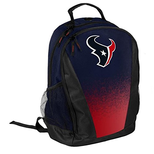 FOCO NFL Houston Texans Logo Gradient Print Primetime Deluxe Backpack, Team Color, Standard, One Size