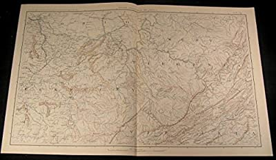 Kentucky South Ohio West Virginia c.1890s huge detailed antique Civil War map