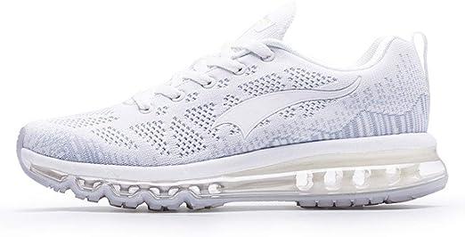 ASDFGH Zapatillas de Running para Hombre, Ligeras Amortiguador de la Palma Completa Cojín Transpirable Desodorante Plantilla para Correr al Aire Libre atlético Caminar Zapatos para Correr,White,40: Amazon.es: Hogar