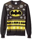 DC Comics Batman Mens Batman Bat Signal Ugly Christmas Sweater