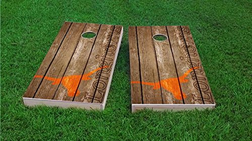 Tailgate Pro's Texas Longhorns Distressed Cornhole Boards, ACA Corn Hole Set, Comes with 2 Boards and 8 Corn Filled Bags