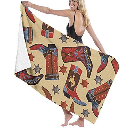 Hallome Sports Towel Swimming Towel Cowboy Boots Stars for sale  Delivered anywhere in Canada