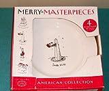 1999 Dayton Hudson Merry Masterpiece American Collection First Edition 24K Gold Trim Fine Porcelain Plates DESSERT SNACK BREAD PLATES