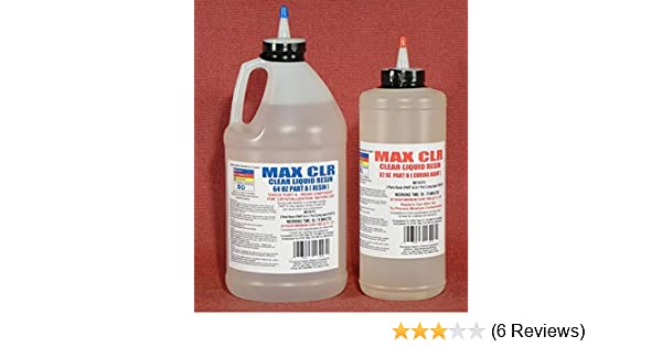 MAX CLEAR GRADE Epoxy Resin System - 3/4 Gallon Kit - Food Safe, FDA  Compliant Coating, Crystal Clear, Stain Resistant, Countertop and Tabletop