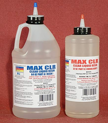 MAX CLEAR GRADE Epoxy Resin System - 3/4 Gallon Kit - Food Safe, FDA Compliant Coating, Crystal Clear, Stain Resistant, Countertop and Tabletop Coatings, Wood Coatings, Fiberglassing Resin by The Epoxy Experts, MAX EPOXY RESIN SYSTEM (Image #7)