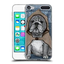 Official Barruf English Bulldog Dogs Soft Gel Case for Apple iPod Touch 6G 6th Gen