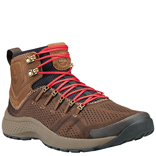 Timberland Mens Fly Roam Trail Mid Trail Sneaker, Dark Brown, 10 D(M) ()