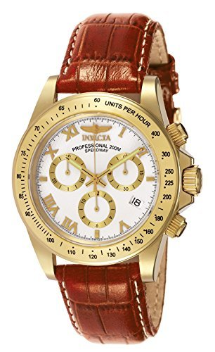 Invicta Speedway Swiss Chrono Watch - Invicta Men's 7032 Signature Collection Speedway Gold-Tone Chronograph Watch