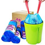 Thickened Drawstring Small Garbage Bag, 5 Gallon blue Trash Bags Durable Disposable Trash Wastebasket Bags Can Liners For Office, Home Waste Bin, Bathroom, Kitchen (90 Bags x 1 Rolls)
