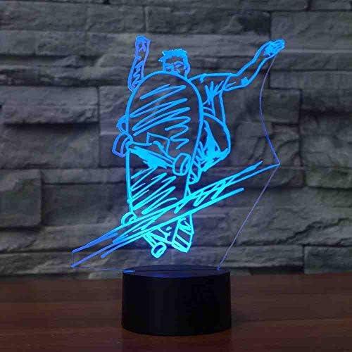 MCJDF Mode Slide Plate Molding Table Lampe 7 Couleurs 3D Led