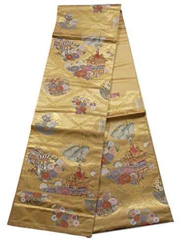 トリクルパールエールリサイクル 袋帯 祇園天上絵 正絹 六通
