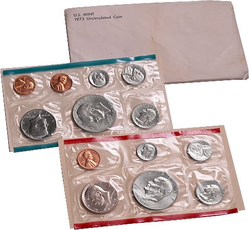 1973 US 13 Piece Mint Set In original packaging from US mint Uncirculated ()