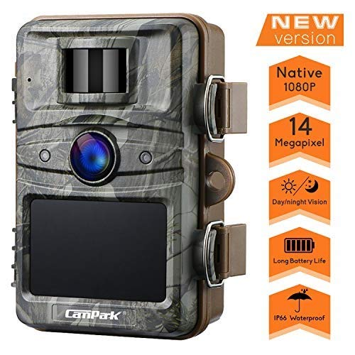 Campark Trail Camera 14MP 1080P HD Outdoor Game Hunting Cam 940nm Security Night Vision Motion Activated Cameras with 2.4