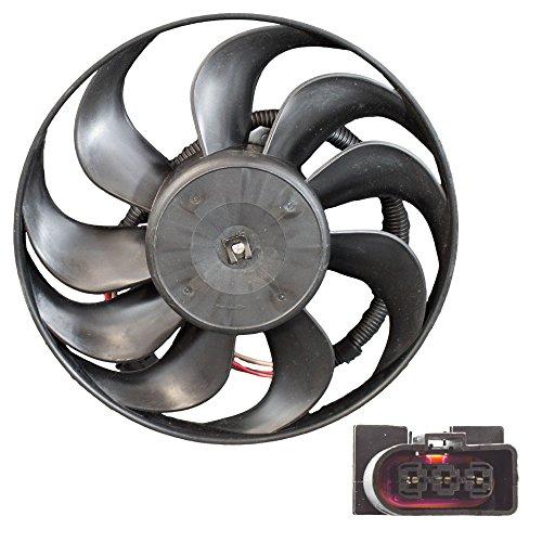 Engine Cooling Fan Assembly - VW Audi - 1J0959455M - Radiator Motor + Blade (Golf Radiator Fan Motor Blade)