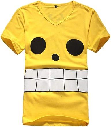 JJJDD Moda de Verano para Hombres y Mujeres Camiseta Anime One Piece Capitán Luffy Camisa de Manga Corta @v Collar_XL: Amazon.es: Ropa y accesorios