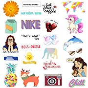 HORIECHALY Cute Computer Stickers for for Laptop, Water Bottles, Cellphone, 37 Pack Durable PVC Waterproof Decoration Stickers, Premium Water Bottle Stickers and Decals
