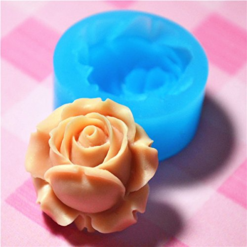 041LBH Flower / Rose Silicone Flexible Push Mold Miniature Food Sweets Jewelry Charms (Clay Fimo Resin Epoxy Gum Paste Fondant) (Miniature Soap Mold)