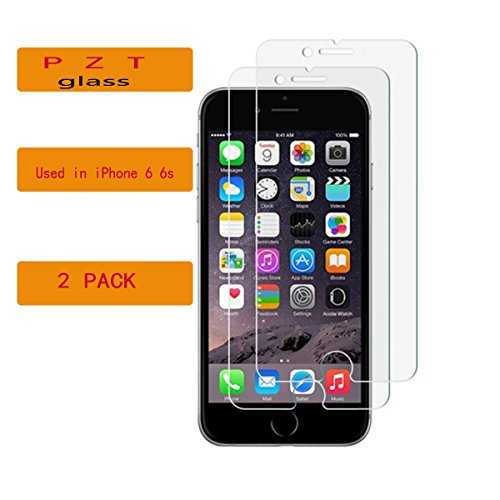 "Tempered Glass Screen Protector with Premium Anti-Shatter and Oleophobic Treatment for iPhone 6/6s [4.7"" inch] by..."