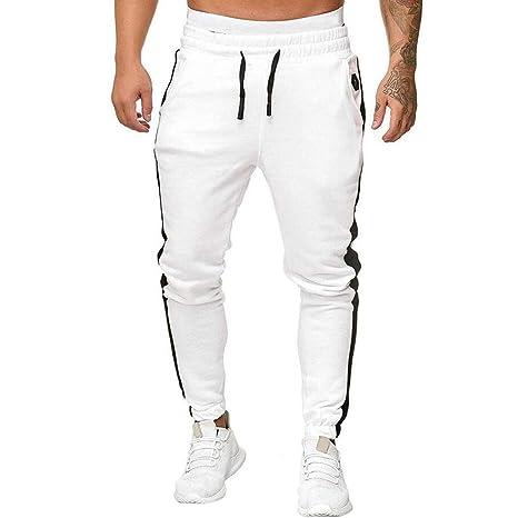 SHE.White Pantalones largos de ocio para hombre, chándal, modernos ...