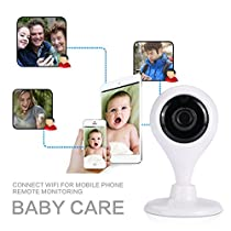 Cewaal (EU Plug)Home Security Camera System, HD 1080P Wireless IP Camera Baby Monitoring P2P Card Machine, Day/Night Vision, Indoor/Outdoor Cam for House, Baby, Pet Security