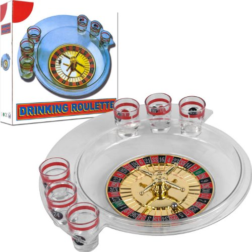 Spins Roulette Drinking Game Set with Layout - Comes with Bonus Roulette Marker! by TMG