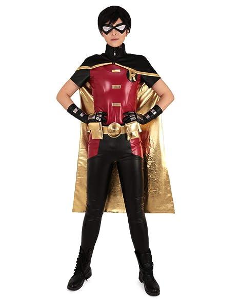 Amazon.com: Miccostumes Tim Drake Disfraz de Robin rojo y ...