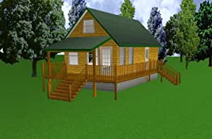 16x30 cabin w loft plans package blueprints material for 20x24 cabin layout