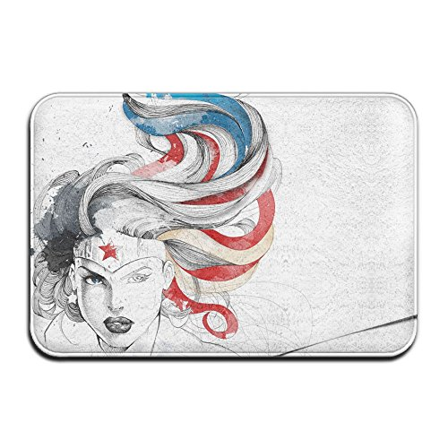 New Yuyu Comics Wonder Woman Kitchen White Memory Foam Bath Rug