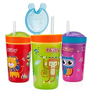 Nuby 1pk Snack N' Sip 2 in 1 Snack and Drink Cup - Colors May Vary