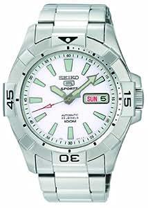 Seiko Men's SNZH09 Seiko 5 Automatic White Dial Stainless-Steel Bracelet Watch